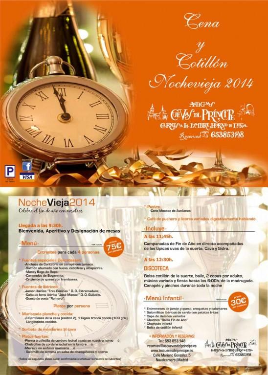 Gran Cena y Gala de Fin de año 2014 Las Cuevas del Principe