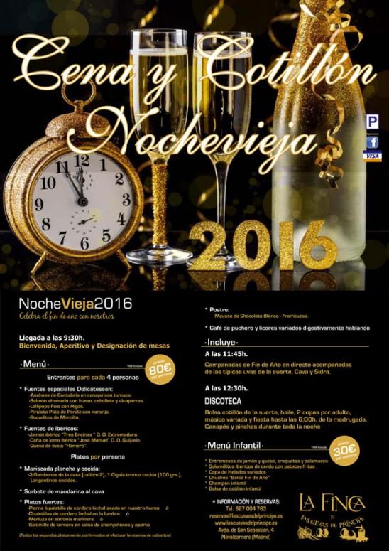 Menú Nochevieja 2016 La Finca